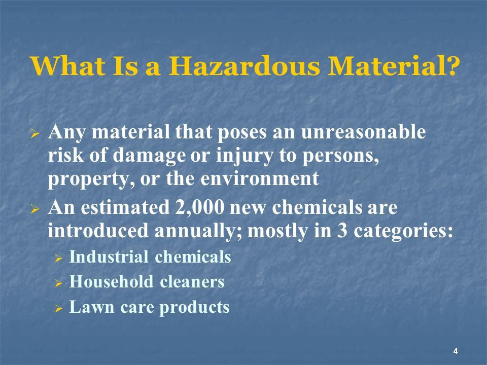 What Is a Hazardous Material