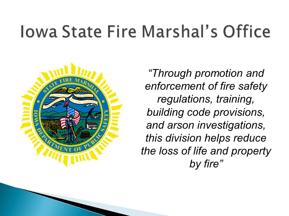 Iowa State Fire Marshal's Office