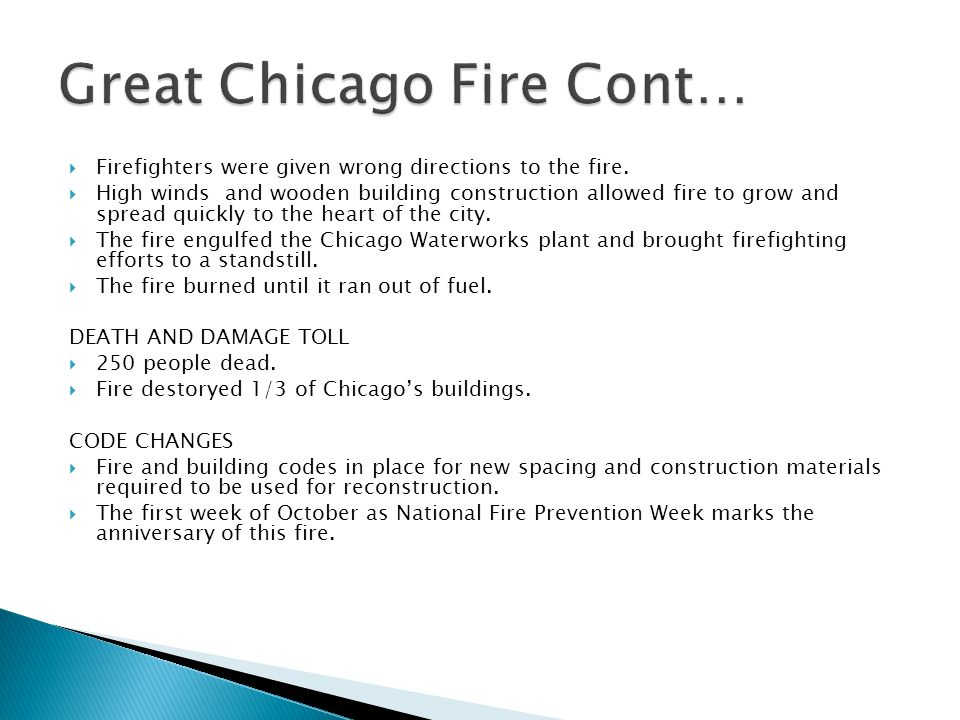 Great Chicago Fire Cont…