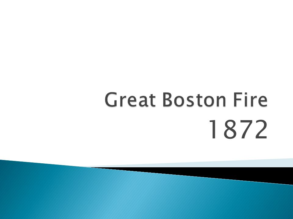 Great Boston Fire 1872