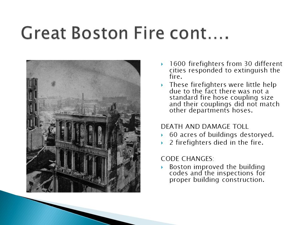 Great Boston Fire cont….