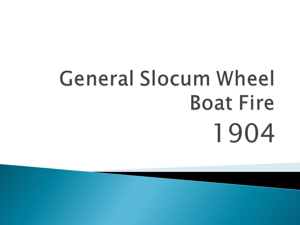 General Slocum Wheel Boat Fire