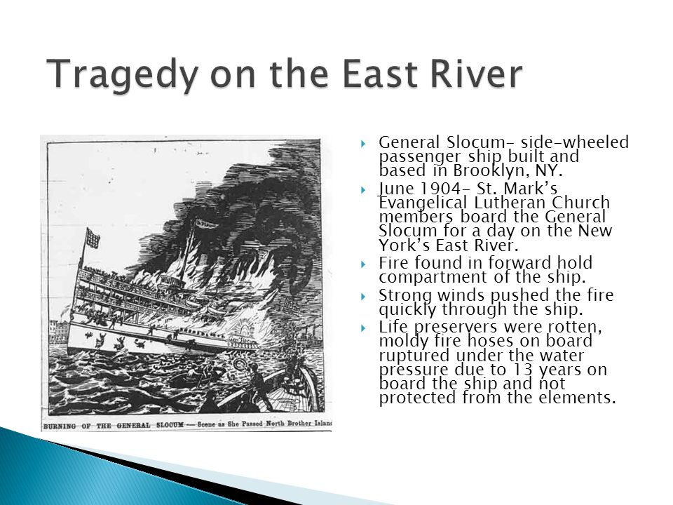 Tragedy on the East River