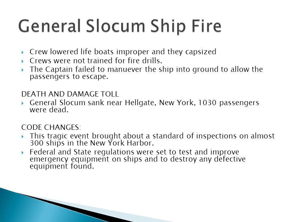 General Slocum Ship Fire