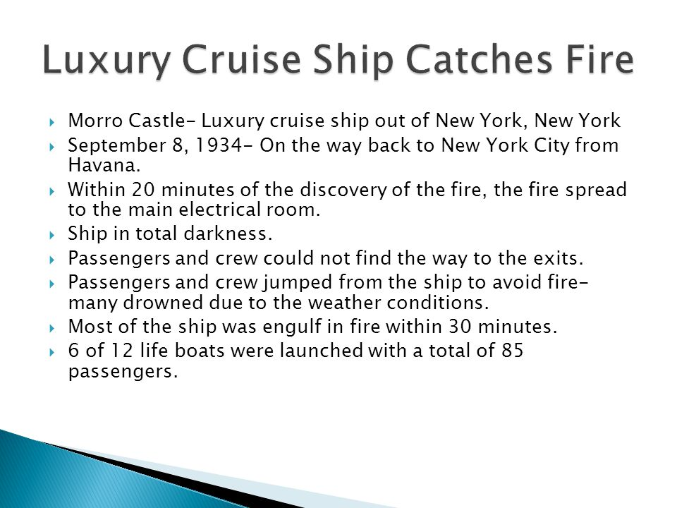 Luxury Cruise Ship Catches Fire