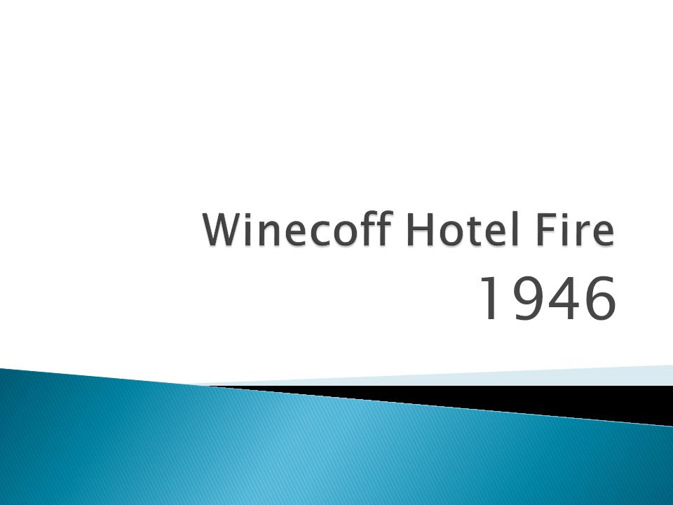 Winecoff Hotel Fire 1946