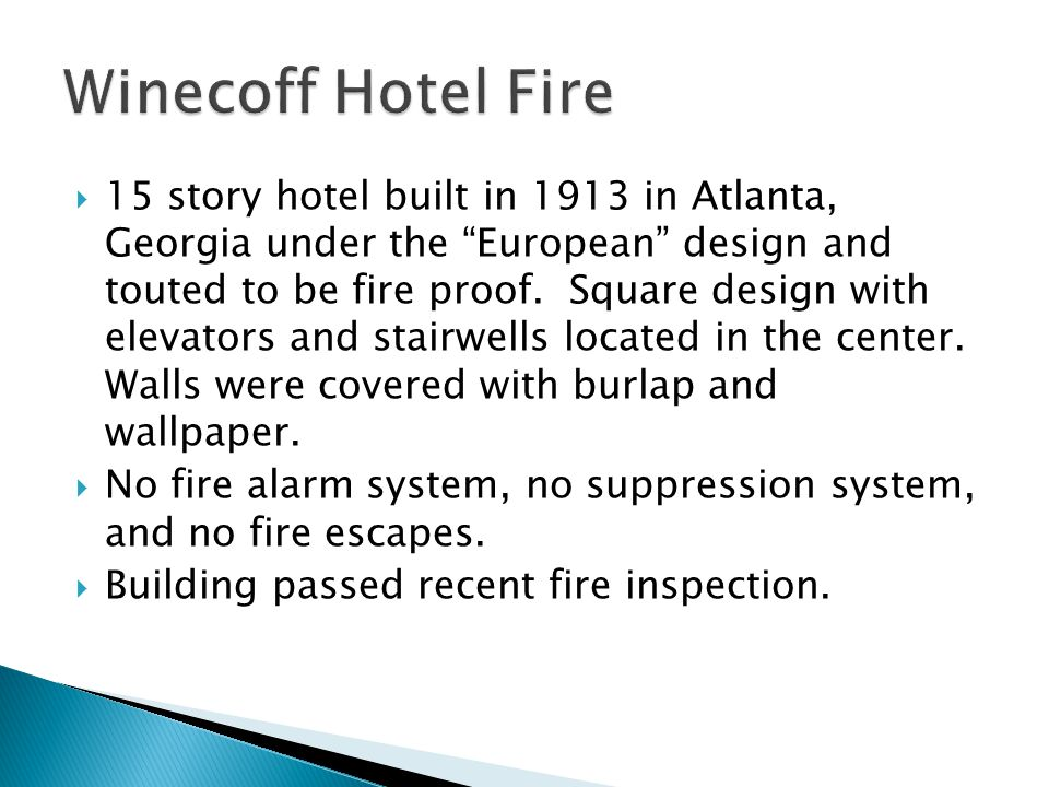 Winecoff Hotel Fire