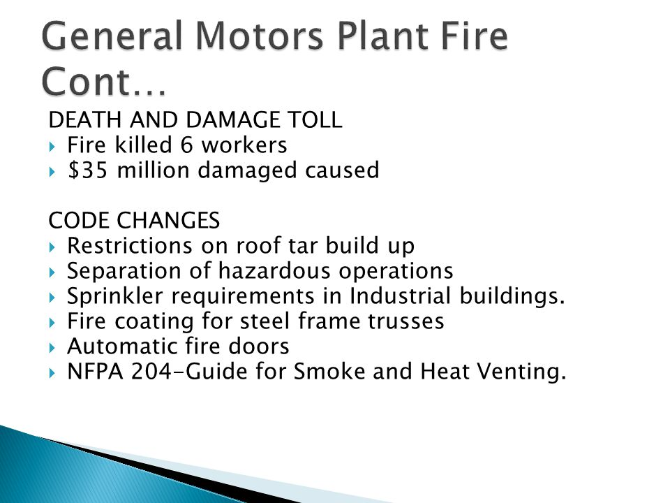 General Motors Plant Fire Cont…