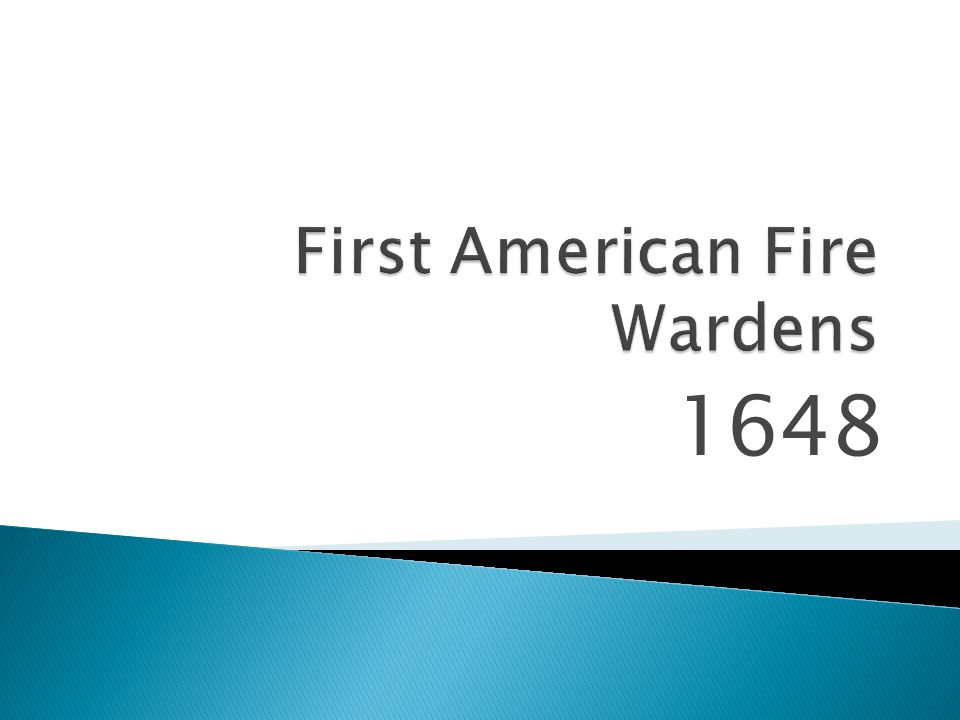 First American Fire Wardens
