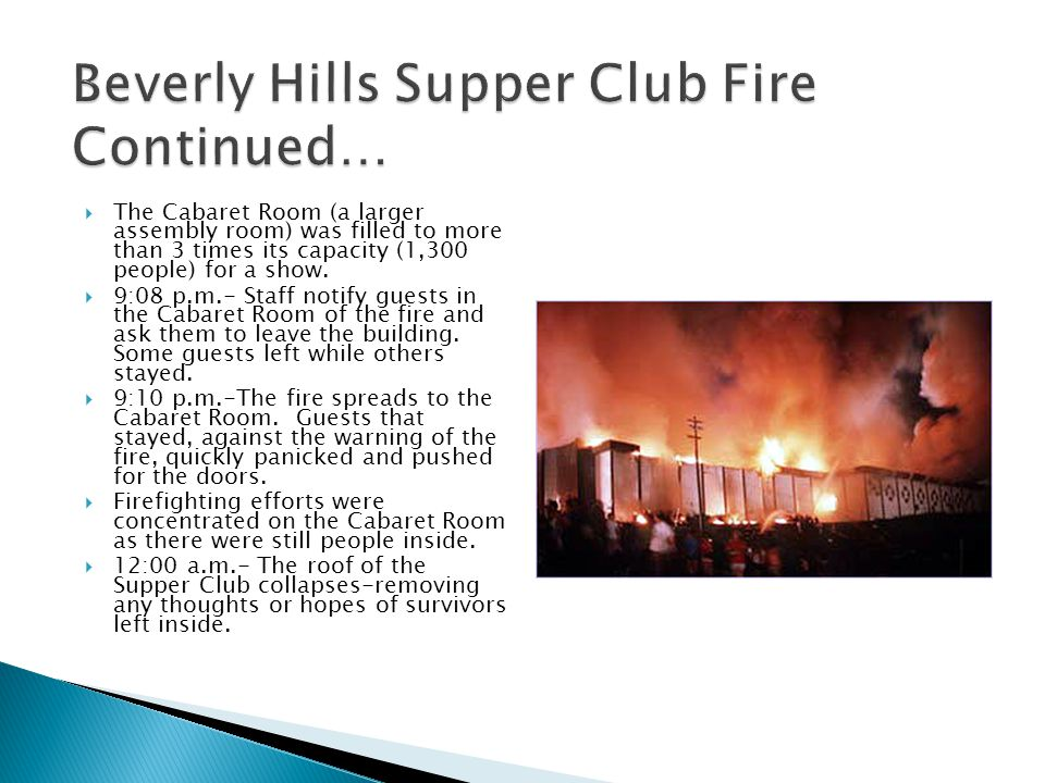 Beverly Hills Supper Club Fire Continued…