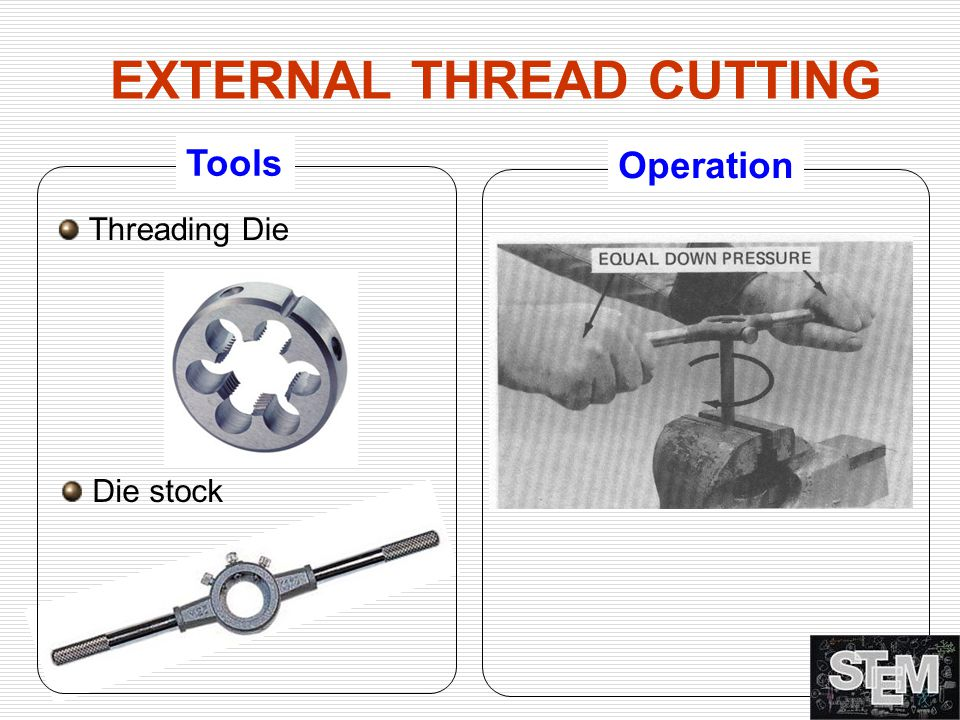 EXTERNAL THREAD CUTTING