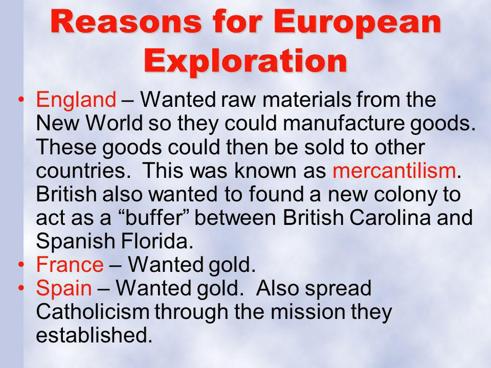 Reasons for European Exploration