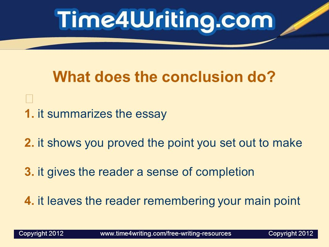 how to write a good conclusion paragraph for an essay