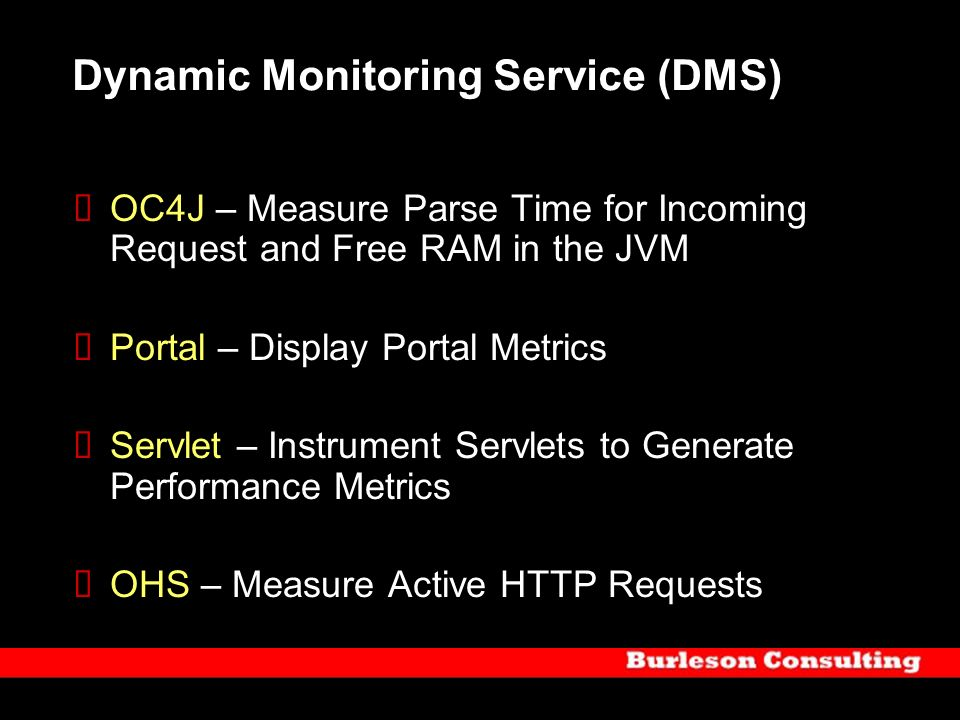 Dynamic Monitoring Service (DMS)