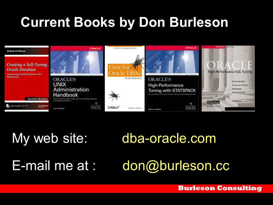 Current Books by Don Burleson