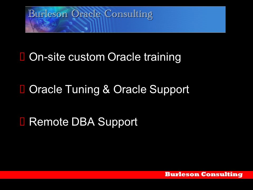 On-site custom Oracle training