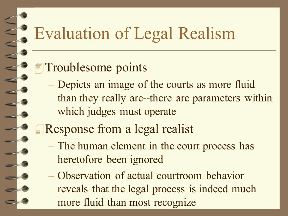 Evaluation of Legal Realism
