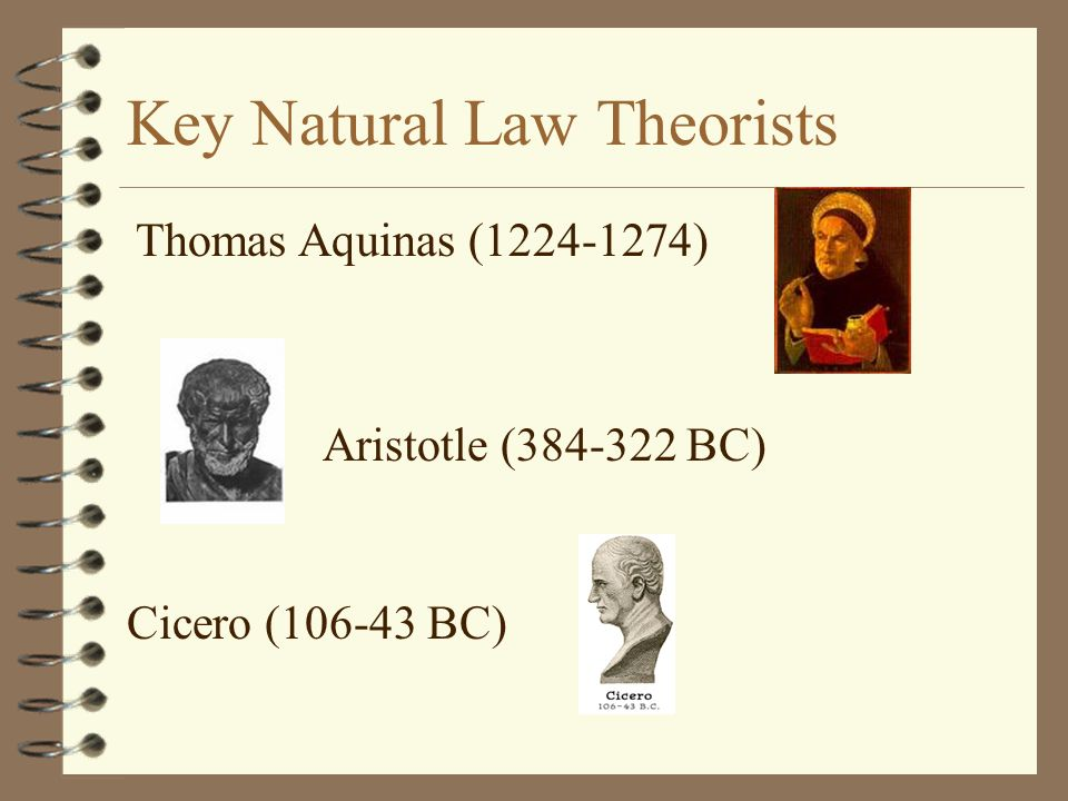 Key Natural Law Theorists