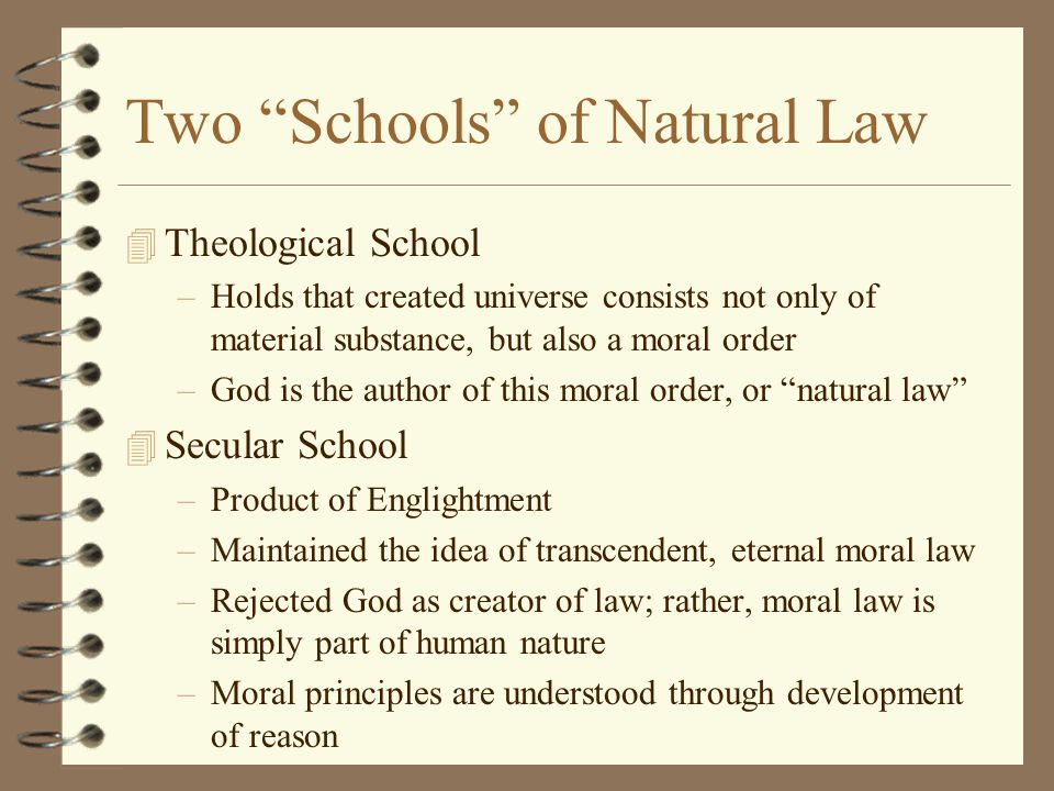 Two Schools of Natural Law