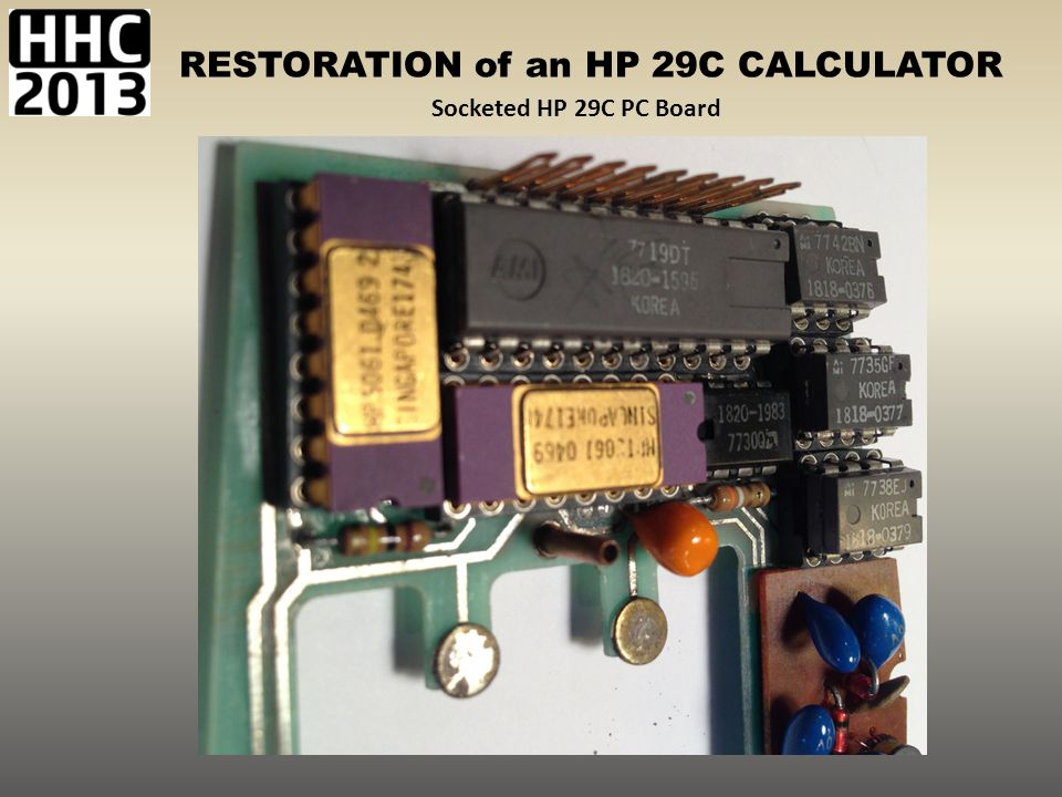 Socketed HP 29C PC Board