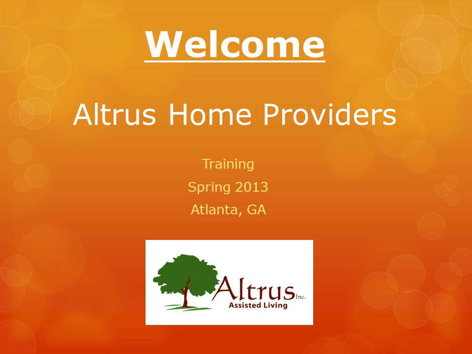 Welcome Altrus Home Providers
