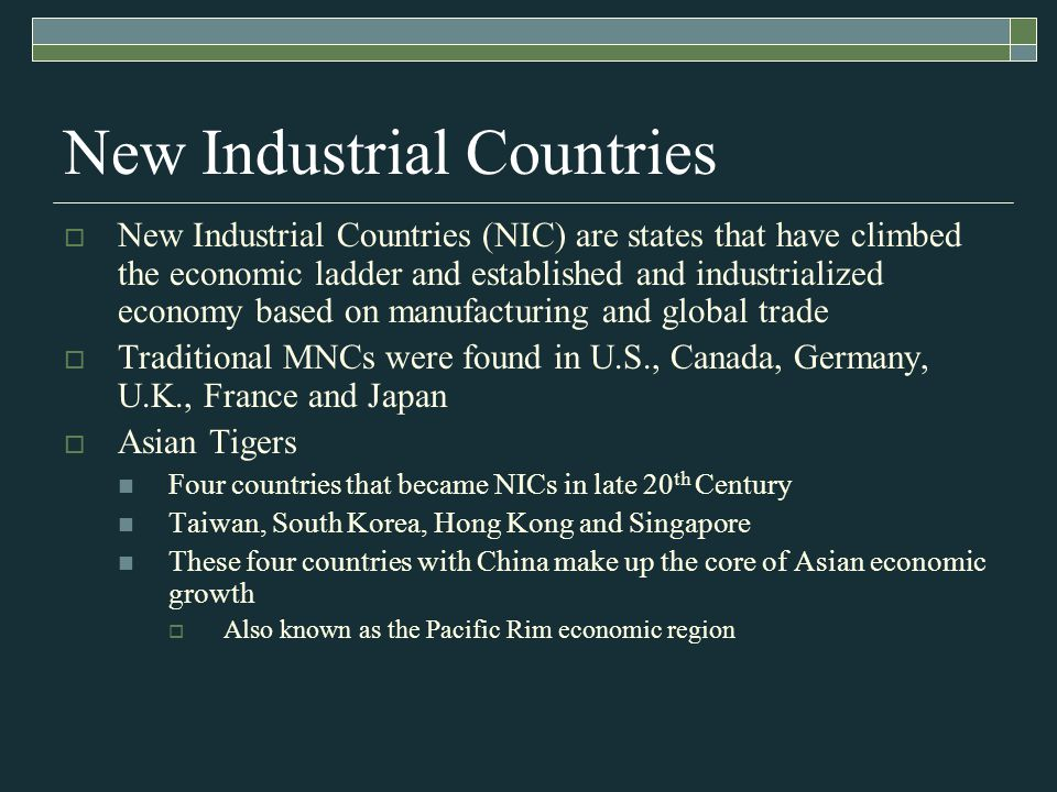 New Industrial Countries