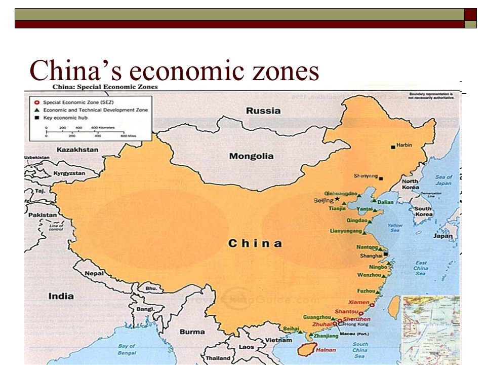 China's economic zones