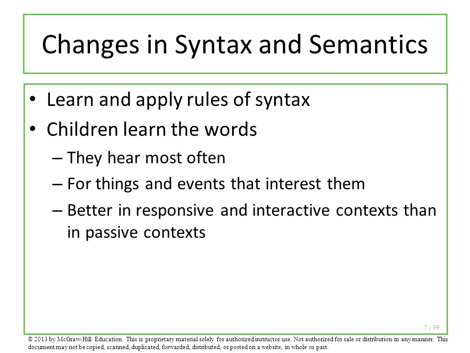Changes in Syntax and Semantics