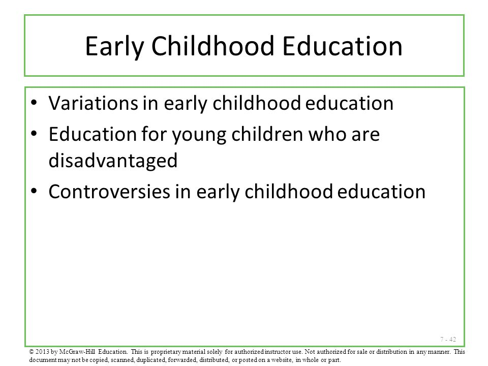 Early Childhood Education
