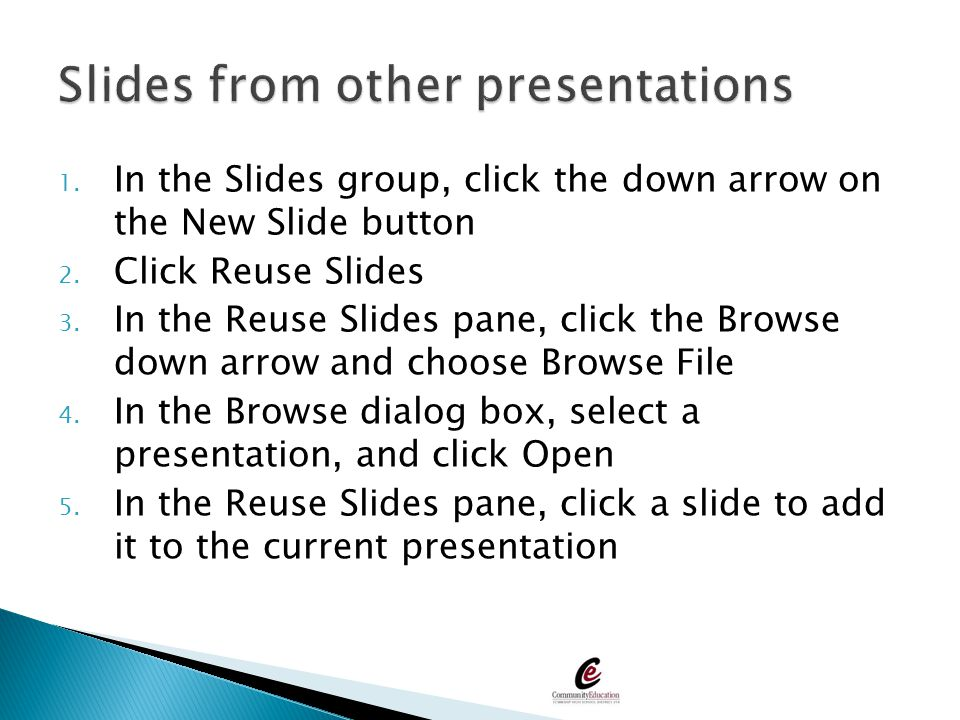 Slides from other presentations