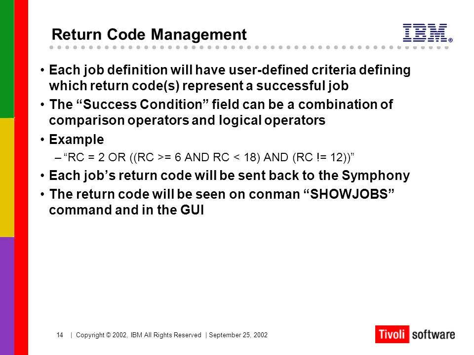 Return Code Management