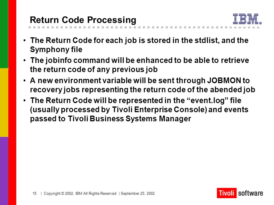 Return Code Processing