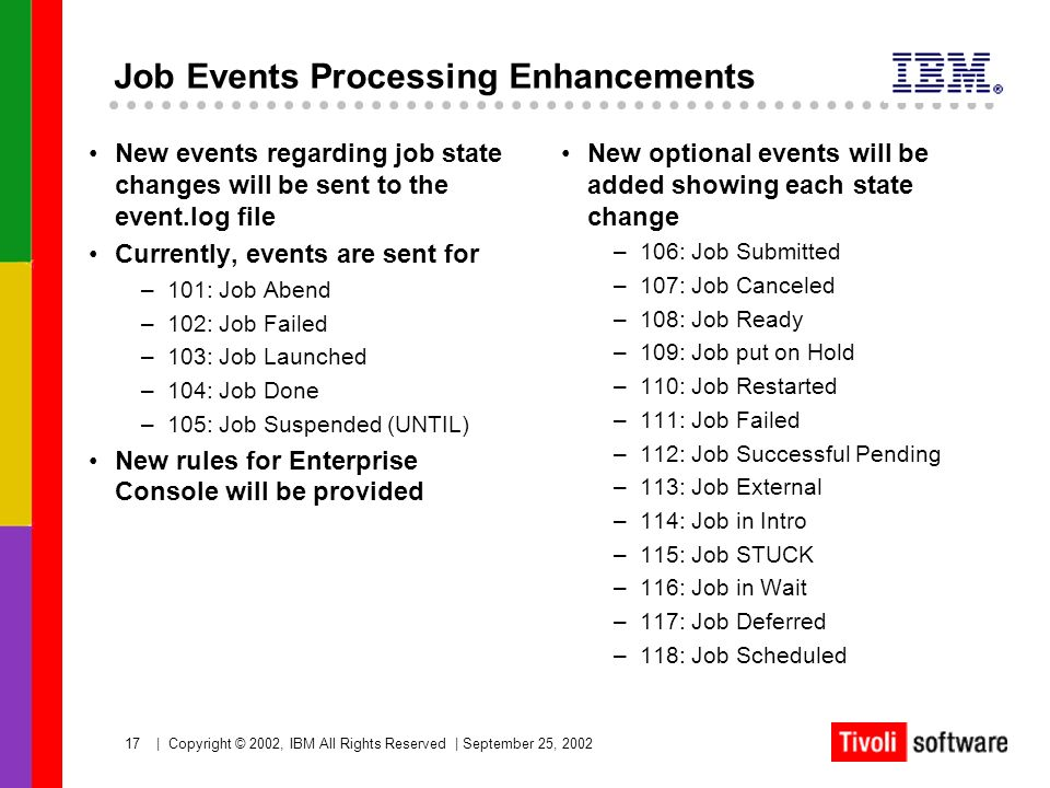Job Events Processing Enhancements
