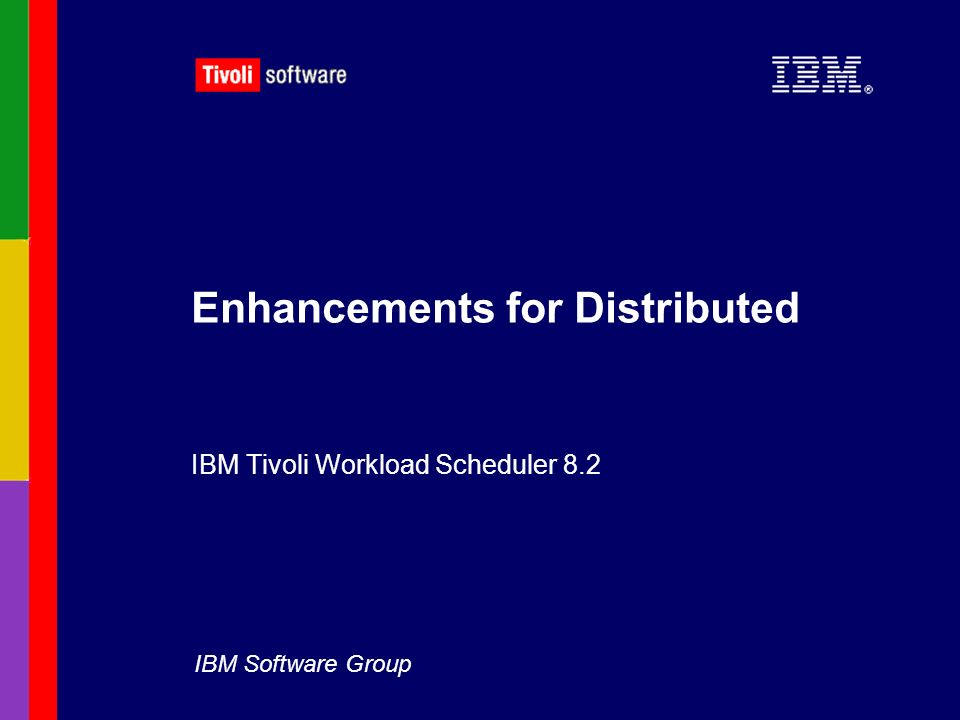 Enhancements for Distributed