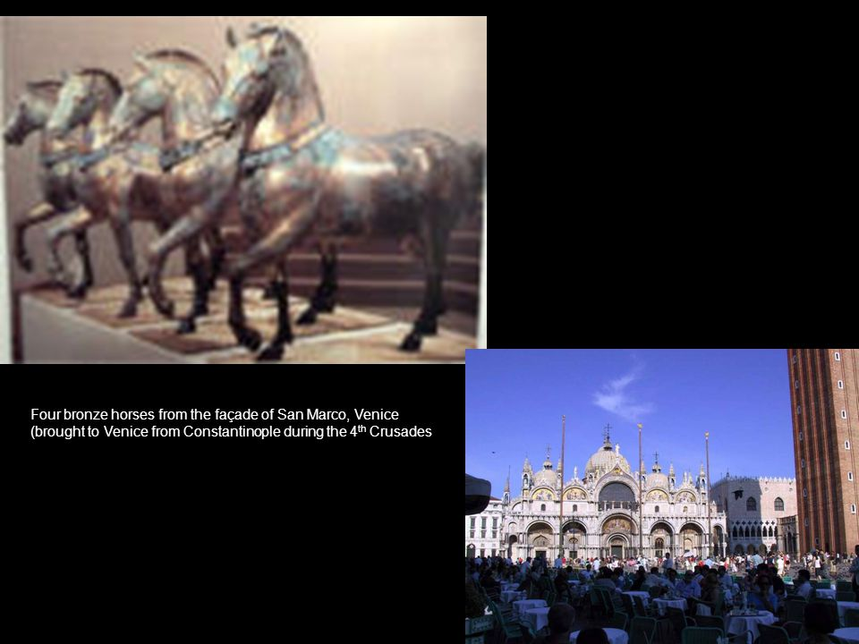 Four bronze horses from the façade of San Marco, Venice