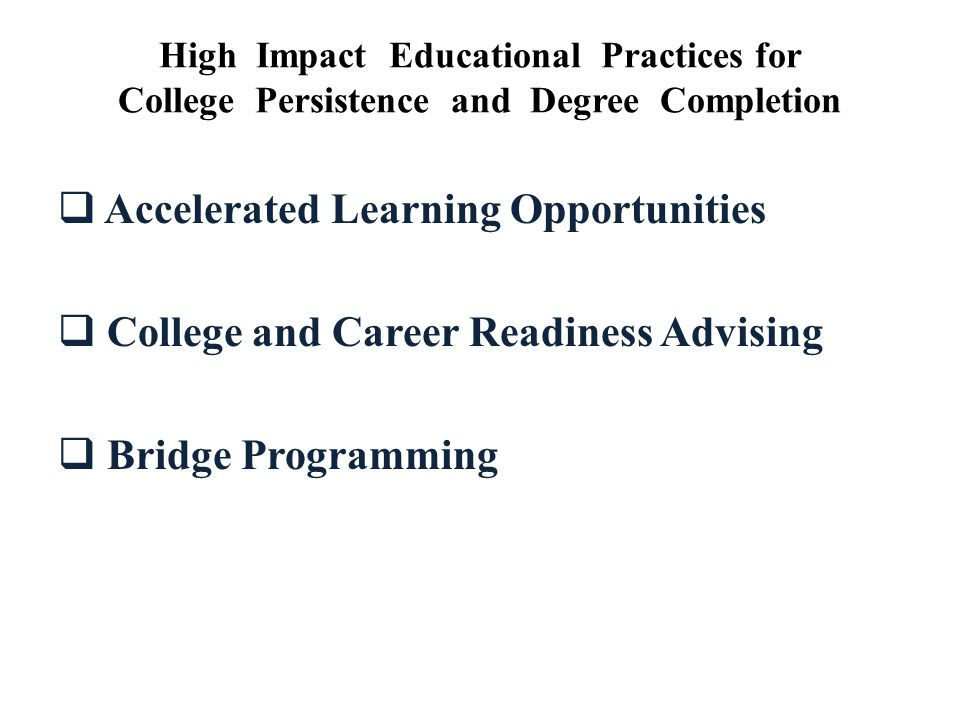 Accelerated Learning Opportunities