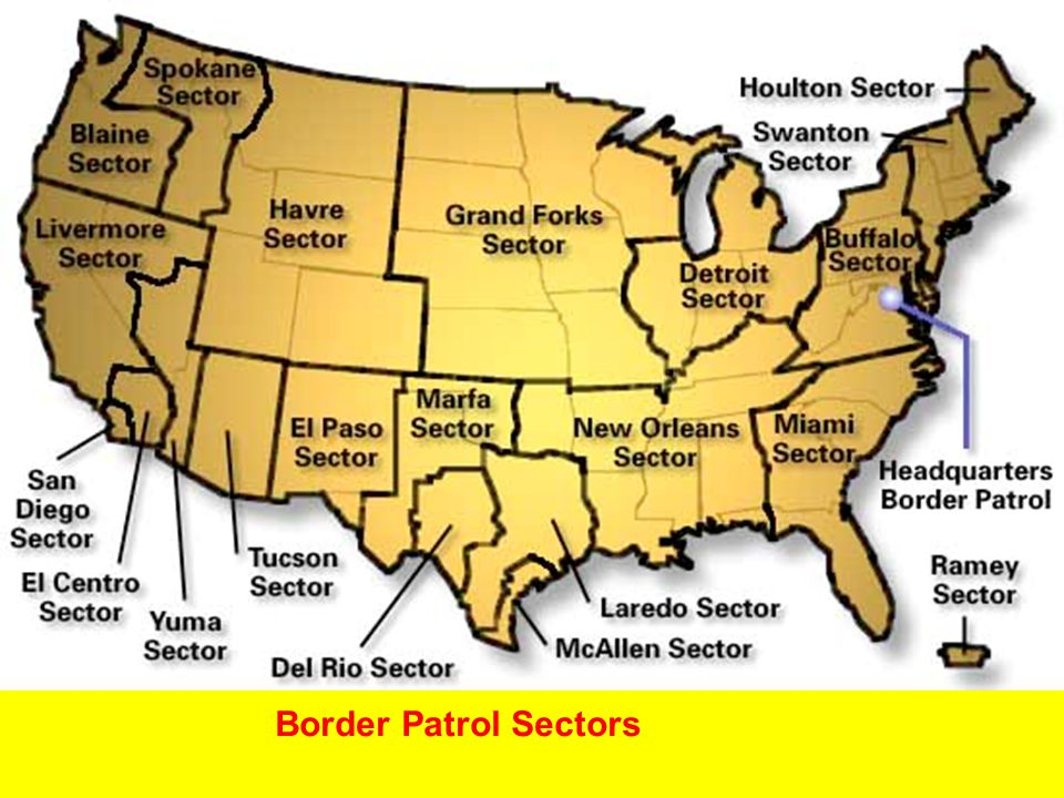Border Patrol Sectors