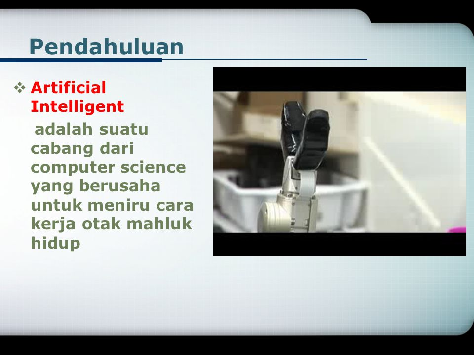 Pendahuluan Artificial Intelligent