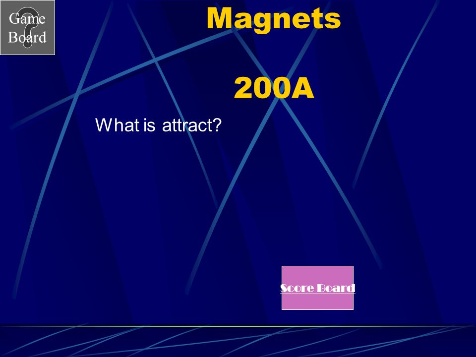 Magnets 200A What is attract Score Board