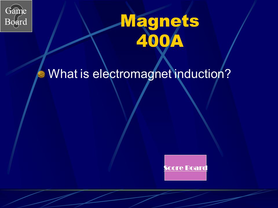Magnets 400A What is electromagnet induction Score Board