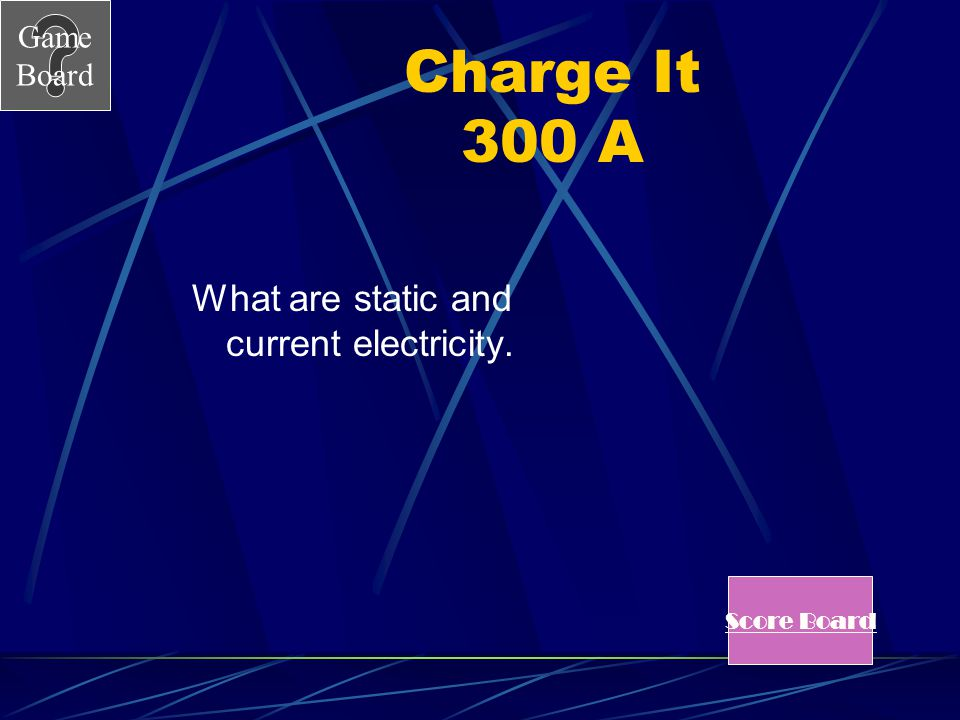 What are static and current electricity.