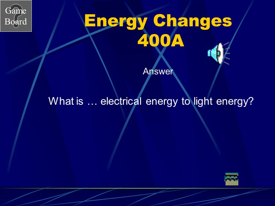 What is … electrical energy to light energy