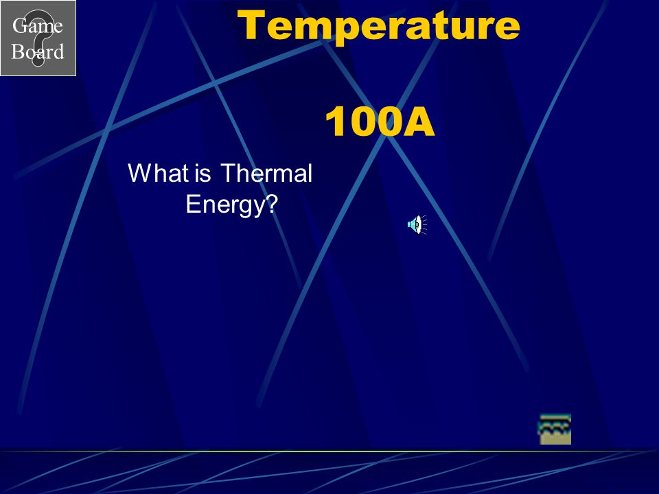 Temperature 100A What is Thermal Energy