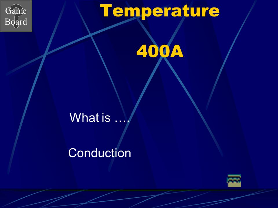 Temperature 400A What is …. Conduction