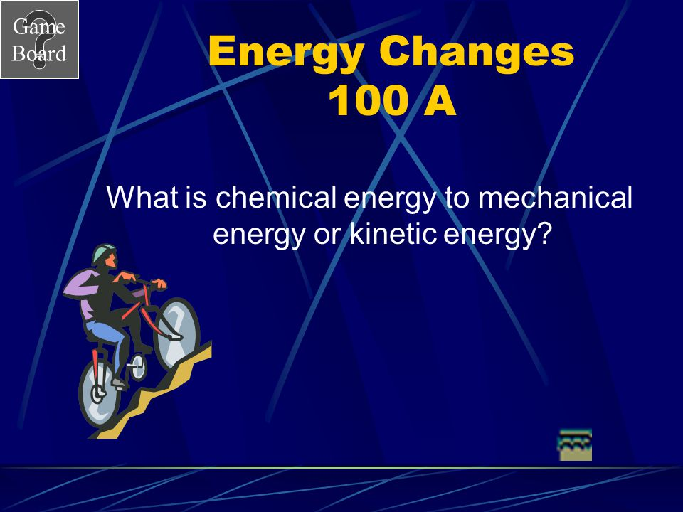 What is chemical energy to mechanical energy or kinetic energy