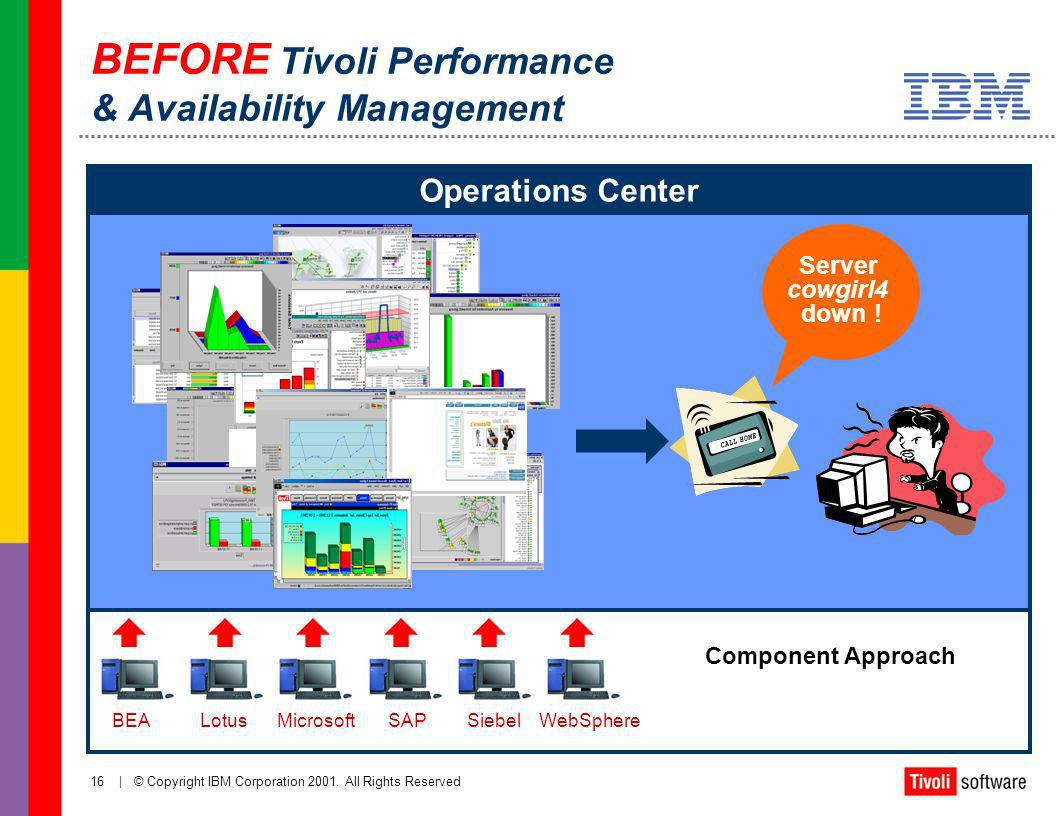 BEFORE Tivoli Performance & Availability Management