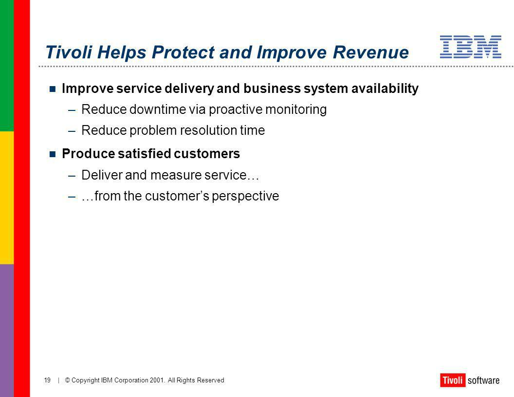 Tivoli Helps Protect and Improve Revenue