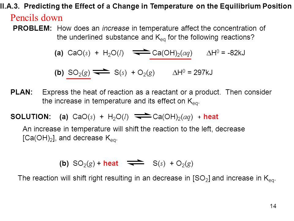II.A.3. Predicting the Effect of a Change in Temperature on the Equilibrium Position