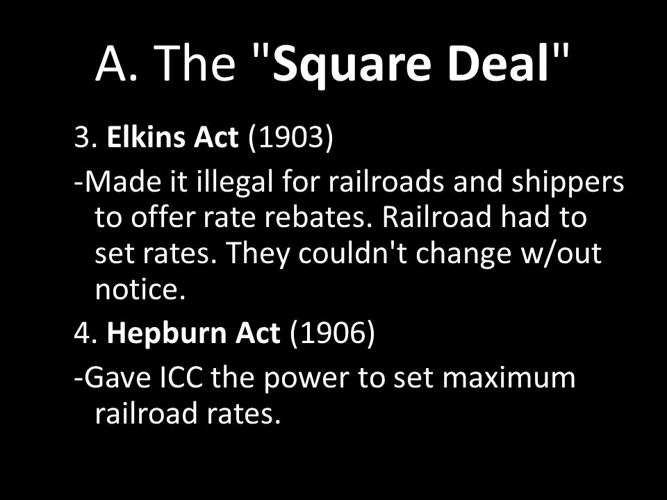 A. The Square Deal