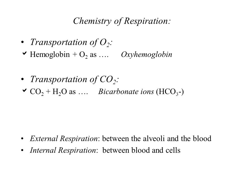 Chemistry of Respiration: